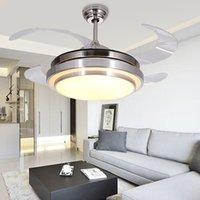 abs ing - LED ing Hidden Invisible Fan Ceiling Light Lamp For Foyer Bedroom Dinning Room Villa