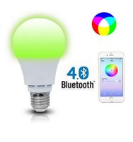 Wholesale BEST UNION W Bluetooth Smart Led Flood Light Bulb Smartphone Controlled Dimmable Multicolored Color Changing Lights Works with iPhone