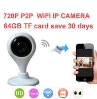 Wholesale Mini Wireless IP Camera P CCTV Camera Motion Detect Two Way Audio Wifi Camera Micro SD Slot