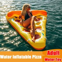Wholesale Factory Diretly Free DHL CM Swimming Pool Float Inflatable Pizza Couch Camping Water Sleeping Compression Air Lounge Mat kg Bearing