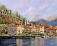bellagio paint - Giclee Landscape Oil Painting bellagio borelli oil painting arts and canvas wall decoration art Oil Painting on Canvas X90cm MRR028