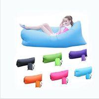 adult folding chair - 3 Season inflatable folding sleeping bag lazy bag Nylon Fabric inflatable banana sleeping bag outdoor sofa chair