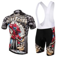 Wholesale SKELETON HOCKY Short sleeve Cycling jersey suit T shirt and short Pants Bicycle riding sport clothes PC for