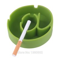 Wholesale SET Most Cheap Transformable Silica Gel Portable Cigarette Ashtray Silicone Smoking For Home Accessories