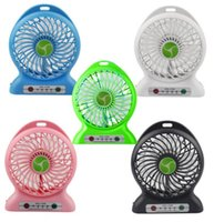 Wholesale New Portable Mini Desk Table USB Rechargeable Handheld Cooling Fan With mAh Power Bank LED Light