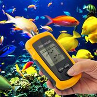 Wholesale waterproof Portable Fish Finder Depth Sonar Sounder Alarm Transducer Fishfinder m echo sounder deeper fishfinder