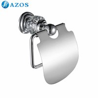 Wholesale AZOS Wall Mounted Toilet Paper Holders Chrome Polish Finish Silver Color Toilet Accessories Bathroom Shower Hardware Components GJQC2205L