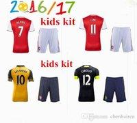 arsenal yellow - Arsenal kids Soccer Jerseys kit WILSHERE OZIL WALCOTT RAMSEY ALEXIS home Away rd Top Thai kids Football shirts