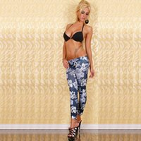 Wholesale Hot Pantalones Black Milk Print Leggings Summer Style Soft To Skin Material Fitness Women Nine Leggins