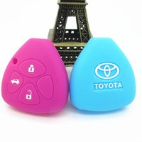 Wholesale Car Key Case Car Accessories Key Bag Button Car Key Cover For Toyota Corolla Camry Silicone Key Protect Case