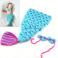 baby crochet animal hat patterns - New Baby Crochet Knit Mermaid Animal Pattern Hats Infant Woolen Caps and Hats Newborn Birthday Caps photography Cloth Hats Colors