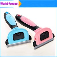 Wholesale Dogs Pet Supplies Soft Plastic Handle Brush Hair Comb For Dog pet cat DHL free