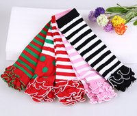 adult ruffle socks - Infant Baby Toddler Girls Boys baby christmas leg warmers ruffle lace leg warmers Socks halloween adult arm warmers