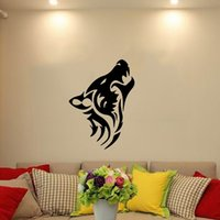 animal howl - Lone Wolf Howls Totem Steam Vinyl Wall Stickers Art Decor Living Room Suitable For Bedroom