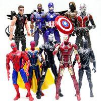 10 Design Captain America 3 guerre civile LED Figurines Figurines jouets DHL enfants Avengers dessin animé Iron Man PVC jouets B001