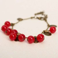 beautiful commodities - Stalls selling small gifts Retro sweet little cherry bracelet hot style beautiful fashion foreign trade commodity