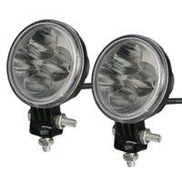 alloy spot lights - 12w SINLONG inch Led Lights Driving Working light die casting alloy Waterproof v v Car Round LED Lamp Light