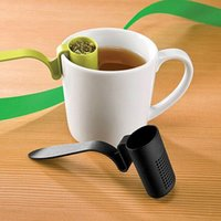 Wholesale NEW1pc Tea Strainer Herbal Spice Infuser Filter Clip On Teaspoon Shape Colander
