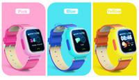 1,22 pouces écran tactile GPS + WiFi + LBS HTB2 puce Montre bracelet SOS Appel Finder Locator Tracker pour Kid Enfants Moniteur Anti Perdu