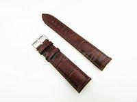 alligator watch straps - 19mm New Brown Top Genuine Leather alligator grain Watch Band Strap belt