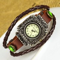 abroad shipping - Hot Sale Selling cowhide antique watch abroad Set auger watches The ancient silver The spot for a long time