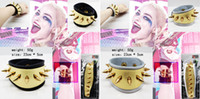 Wholesale 2016 Hot New Movie Harley Quinn Suicide Squad Cosplay Leather Metal Wrist Punk Cuff Bracelet