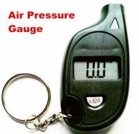 Wholesale 100pcs by dhl fedex LCD Display Keychain Car Diagnostic Universal Digital Tire Air Pressure Tools Gauge Bicycle Bike