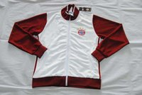 Wholesale Quality assurance germany Bayern Munich white wine red grey bule men Long sleeve thailand soccer jacket Jerseys uniforms Tracksuit