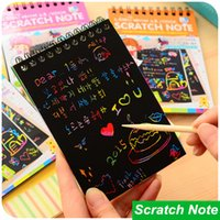 Wholesale Black Cardboard DIY Notebook Creative Draw Sketch Note Book for Kids Toy Daily Note book Stationery Office School Supplies