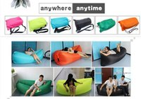 Wholesale Fast Inflatable hangout Air Sleep Camping Bed Beach Sofa Lounge Only Need Ten Seconds Sleeping bags