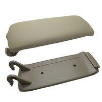 Wholesale Car styling beige leather armrest automobiles accessories universal car armrest center console for A6