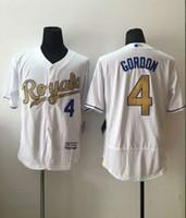 Wholesale 2016 New MLB Kansas City Royals Baseball Jerseys Alex Gordon Majestic White World Series Champions Gold Program Stitched Name Number
