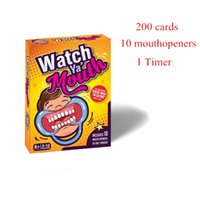 Wholesale Hot Party Game Board Game Watch Ya Mouth Game cards mouthopeners Timer Family Edition Hilarious Mouth Guard