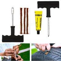 Wholesale Delicate Car Bike Auto Tubeless Tire Tyre Puncture Plug Repair Tool Kit Car Styling EA10742