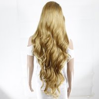 beautiful gifts wigs - big wave straight long wig use in eurocup synthetic lace front wig for beautiful girl gifts glueless