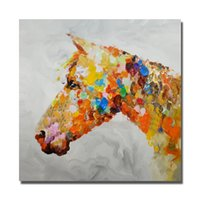 beautiful horse paintings - Animal Wall Painting on Canvas Home Decor Bedroom Wall Pictures Hand painted Abstract Horse Oil Painting Beautiful Color No framed