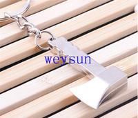 axe keychain - High quality Zinc Alloy Working Tool Keyring Metal Novelty Axe Pendant Keychain