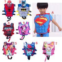 baby swim jacket - Baby Life jackets Vests batman superman spiderman princess KT drifting vest children swimming life vest kid Rafting life jacket