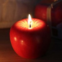 Wholesale Red Apple Candle with Retail Package Home Decoration Fruit Shape Scented Candle Lamp Christmas Birthday Wedding Gift