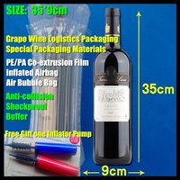 Wholesale cm Wine Packaging Material PE PA Co extrusion Film Shockproof Anti collision Buffer Inflated Bubble Airbag Gift pump