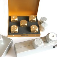 Wholesale NEW High Quality Outdoor Entertainment Party Portable Aluminium Alloy Poker Solid Dominoes Dice Game Dice Dice Poker Color
