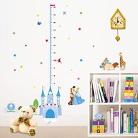 baby height growth - Princess Castle Growth Chart Wall Sticker Height Measuring Decals Living Room Baby Bedroom Mural Nursery Home Accessories
