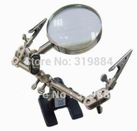 Wholesale Soldering Iron Stand with Maintenance magnifying glass Clamps soldering helper