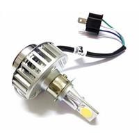 beam connector - Hi lo Dual Beam H4 LED Motorcycle Headlight Kit W lm COB Chips Bike Head Lamp Bulb K K H4 Connector