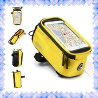battery dirt bikes - Waterproof Bike Touch Screen Saddle Bag Holder Handlebar Phone Pocket Phone Bag Riding Cycling Supplies Brand New