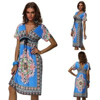 adult graphics - Boho Sexy African Clothing Styles Ethnic Long Dress Women Vintage Summer Indian Plus Size Top Women Ukraine Graphic Clothes
