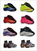 Wholesale 2016 Children soccer cleats Kids Boys Superfly CR7 FG Football Boots Mens High Ankle Soccer Shoes women Girls Outdoor Cleats size