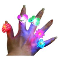 Wholesale Figure Ring Light Up Toys Cartoon Soft Led Ring Toys Flashing Luminous Toys