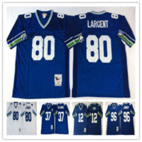 alexander football - th fan shaun alexander steve largent Stitched retro throwback rugby football Jerseys Drop Shipping Mix Order