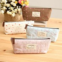 Wholesale Lovely Pencil Case - Pen bag lovely portable Pencil pen Case Pocket organizer storage Makeup cosmetic stationery bag with zipper